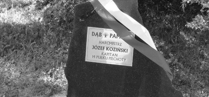 Dąb Pamięci Harcmistrza Józefa Kozińskiego